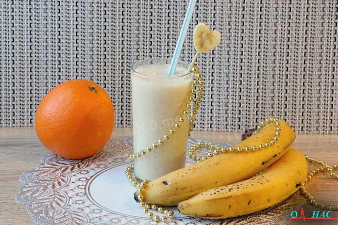 Бананово апельсиновый коктейль