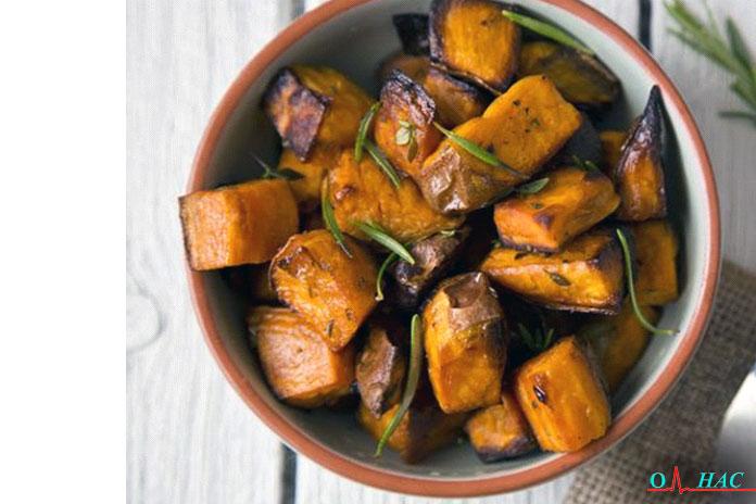 Обед тушёный бальзамический сладкий картофель