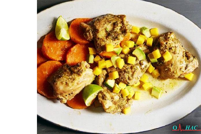 Ужин Карибские куриные бёдра