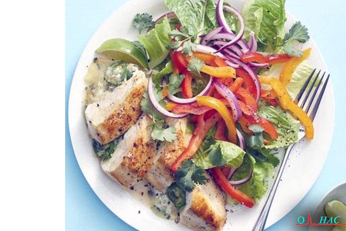 Ужин в день сырная фаршированная курица в стиле текс-мекс